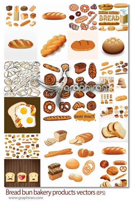 دانلود مجموعه تصاویر وکتور انواع نان