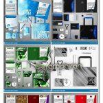 دانلود 9 طرح وکتور ست اداری کامل در رنگ های مختلف EPS لایه باز
