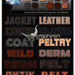 دانلود استایل های چرم فتوشاپ CreativeX7 12 Photoshop Leather Styles