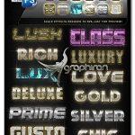 دانلود 12 استایل لاکچری فتوشاپ CreativeX7 - 12 Photoshop Luxury Styles