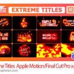 دانلود پروژه عنوان بندی و ترانزیشن های آتشی Final Cut Pro X و Apple Motion