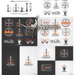 دانلود طرح های وکتور آرم و لوگوی قلیان Hookah Logo Vectors