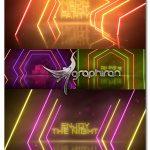 دانلود پروژه افترافکت اینترو نورهای نئون Neon Light Party Opener