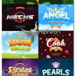 دانلود استایل های کارتونی و فانتزی فتوشاپ Game Titles Text Effects Vol.3