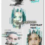 دانلود قالب ساخت افکت تایپوگرافی پرتره Text Portrait Mockup