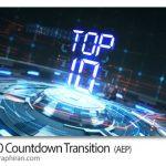 دانلود پروژه افترافکت شماره معکوس بهترین 10 مورد Top 10 Countdown Transition