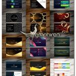 دانلود 18 طرح وکتور کارت ویزیت دو رو فایل EPS با طراحی لاکچری - شماره 442