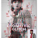 اکشن فتوشاپ نویزهای هندسی Geometric Glitch Photoshop Action