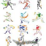 دانلود 30 تصاویر وکتور انواع ورزش ها لایه باز Sports Vector Pack