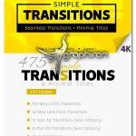 دانلود مجموعه ترانزیشن های ساده و عنوان بندی پریمیر Simple Transitions V.3