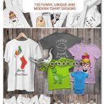دانلود 150 طرح روی تیشرت پسرانه، دخترانه و کودکانه بامزه فانتزی و کارتونی