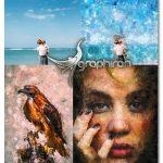 اکشن فتوشاپ افکت نقاشی انتزاعی و هنری Abstract Art Photoshop Action