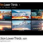 دانلود پروژه افترافکت 12 زیرنویس آتشی Fire Action Lower Thirds