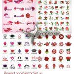 دانلود مجموعه 100+ لوگو شکل گل وکتور Flower Logo Vector Set