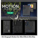 دانلود Mt. Mograph Motion 3.27 Win/Mac پلاگین افترافکت ساخت موشن گرافیک