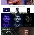 دانلود اکشن فتوشاپ افکت پولیگان Polygon Photoshop Action