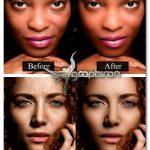 اکشن فتوشاپ روتوش پوست ساده Skin Retouching Photoshop Actions
