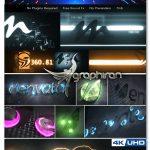 دانلود پک 4 پروژه آماده افترافکت نمایش لوگو و متن حرفه ای