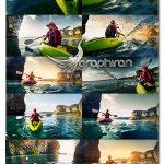 دانلود مجموعه عکس های استوک ورزش قایقرانی Fotolia Kayaking UHQ Photos