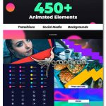 دانلود 450+ ترانزیشن بک گراند و آیکون های انیمیشن افترافکت Elements Kit
