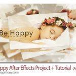دانلود پروژه افترافکت اسلایدشو عکس عروسی و عاشقانه Be Happy