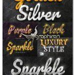 دانلود مجموعه افکت های طلایی حرفه ای فتوشاپ Brilliant Gold Text Effects