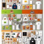 مجموعه طرح های وکتور ست اداری فست فود Fastfood Corporate Set Vectors