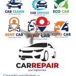 دانلود مجموعه لوگو کارواش و ماشین وکتور لایه باز Carwash Logo Vector Set