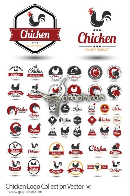 دانلود مجموعه لوگو مرغ و خروس وکتور لایه باز Chicken Logo Collection Vector