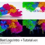 دانلود رایگان پروژه افترافکت اینترو لوگو با دودهای رنگی Color Blast Logo Intro