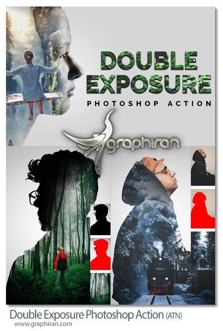 دانلود اکشن فتوشاپ دابل اکسپوژر Double Exposure Photoshop Action