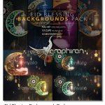 دانلود 10 فوتیج بک گراند مذهبی ماه رمضان Eid Blessing Backgrounds Pack