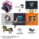 دانلود طرح های لوگو اسب وکتور لایه باز Horse Logos Vector