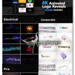دانلود 100 انیمیشن آماده افترافکت برای لوگو و متن Logo Pack