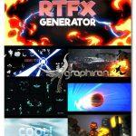 دانلود پلاگین و 1000 المان کارتونی افترافکت RTFX Generator [1000 FX elements] V2