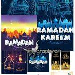 دانلود مجموعه طرح های وکتور اسلامی ماه مبارک رمضان با طراحی زیبا