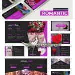 دانلود قالب آماده پاورپوینت عاشقانه Romantic Powerpoint Template