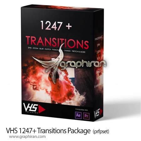 دانلود 1247+ ترانزیشن متنوع افترافکت و پریمیر VHS 1247+ Transitions Package