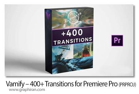 دانلود 400+ ترانزیشن متنوع پریمیر Vamify 400+ Transitions for Premiere Pro