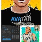 دانلود پلاگین فتوشاپ طراحی کارتونی وکتور Avatar Cartoon Photoshop Plugin