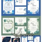 دانلود مجموعه تصاویر وکتور کارت عروسی گل دار طرح های آبرنگی