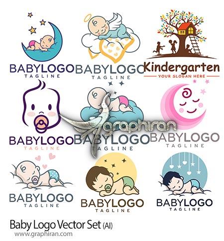 دانلود تصاویر لوگو کودک و نوزاد وکتور لایه باز Baby Logo Vector