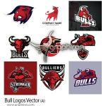 دانلود تصاویر لوگو سر گاو وکتور AI لایه باز Bull Logos Vector