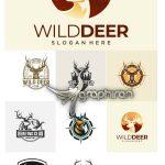 دانلود مجموعه لوگوهای گوزن وکتور لایه باز Deer Logo Vector Collection