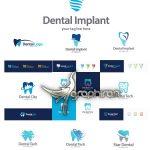 دانلود مجموعه لوگو دندان و دنداپزشکی وکتور لایه باز Dental Logo Vector Set