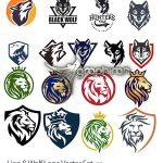 دانلود مجموعه لوگو شیر و گرگ وکتور لایه باز Lion & Wolf Logo Vector Pack