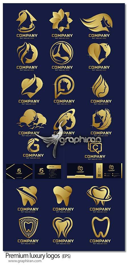 دانلود مجموعه طرح های لوگوی حرفه ای و جذاب طلایی