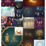 دانلود مجموعه 23 طرح وکتور گرافیکی ماه رمضان Ramadan Vector Set