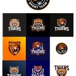 دانلود مجموعه لوگو ببر وکتور AI لایه باز Tiger Logo Vector Set