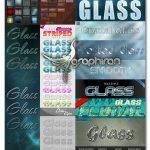 دانلود 125 استایل فتوشاپ شیشه ای شفاف Glass & Aero Photoshop Styles Collection